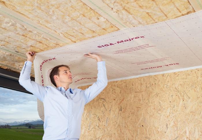 siga majrex hygrobrid dampfbremse 75m dampfbremsbahnen dach fassade. Black Bedroom Furniture Sets. Home Design Ideas