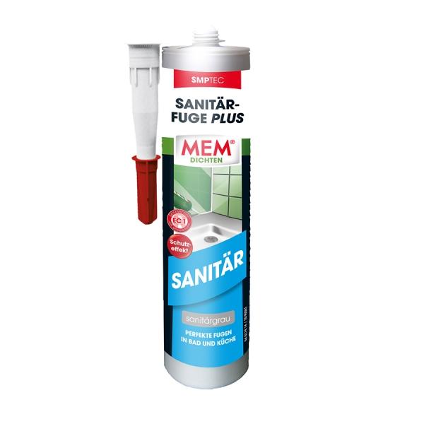 MEM Sanitär-Fuge Plus - Perfekte Fugen für Bad und Küche - sanitärgrau