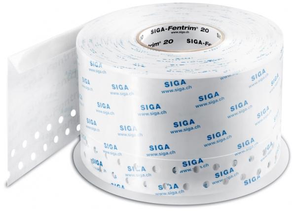 SIGA Fentrim 20 150 mm - Luftdichtes Klebeband mit Einputz-Zone für Fenster- und Türrahmen im Innenbereich