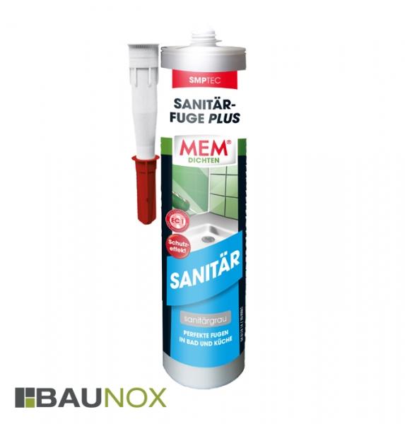 MEM SANITÄR-FUGE PLUS für perfekte Fugen in Bad und Küche [sanitärgrau]