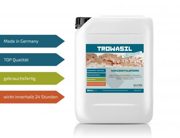 Baunox TROWASIL - Horizontalsperre - 10 Liter