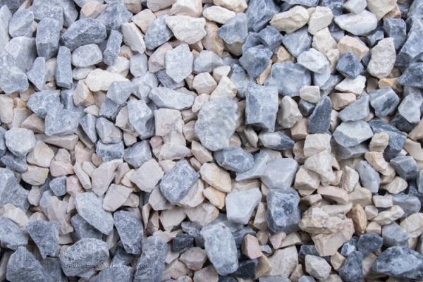 Mixed Denver Greystone und Jona Kristall Blau Jura Zierkies / Ziersplitt für Wege, Einfahrten, Parkplätze oder Beetanlagen 8-16 mm