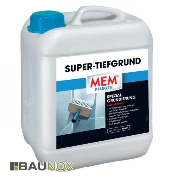 MEM SUPER-TIEFGRUND - Spezialgrundierung zum Grundieren und Verfestigen von losem Putz - 10 Liter