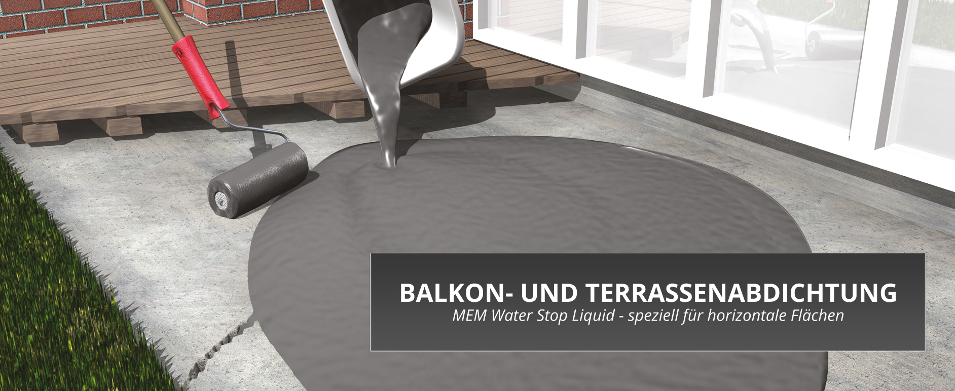 balkon und terrassenabdichtung sperr schicht dicht schicht baumarkt online shop. Black Bedroom Furniture Sets. Home Design Ideas