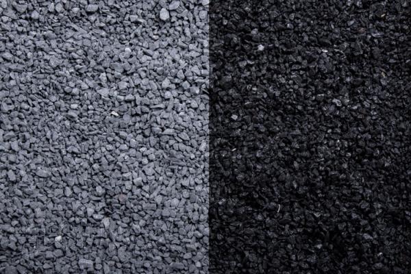 Blackstone Zierkies / Ziersplitt für Wege, Einfahrten, Parkplätze oder Beetanlagen 1-3 mm