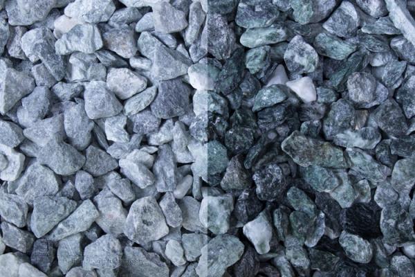 Grüner Kristall Zierkies / Ziersplitt für Wege, Einfahrten, Parkplätze oder Beetanlagen 12-16 mm