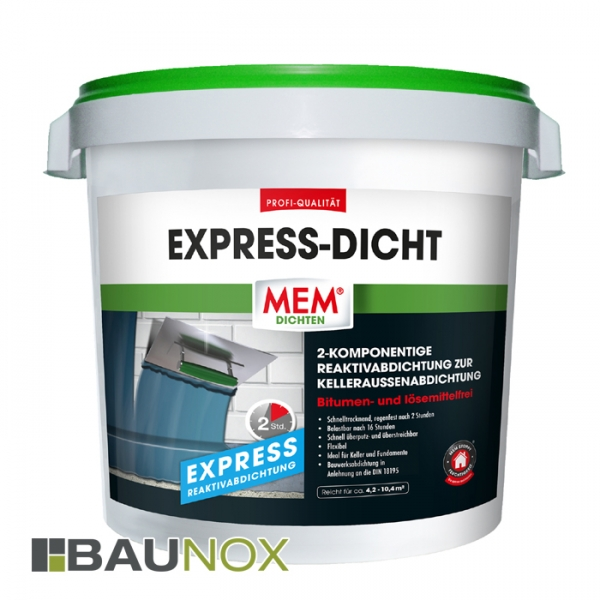 MEM EXPRESS-DICHT der Allrounder im Bereich der Kelleraussenwandabdichtung