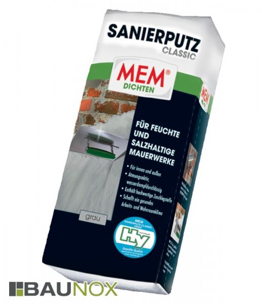 MEM SANIERPUTZ CLASSIC atmungsakticer, wasserdampfdurchlässiger Sanierputz - grau