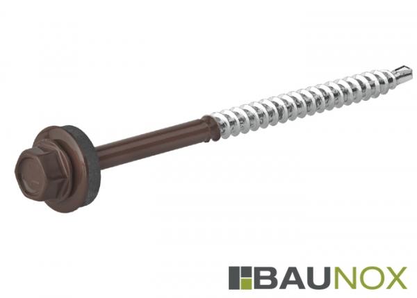 Trapezblechschrauben 4,8 x 80 mm - RAL8017