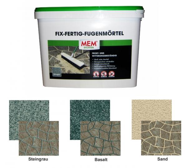 MEM FIX-FERTIG-FUGENMÖRTEL zur Verfugung von Gehwegen, Gartenwegen oder Terrassen