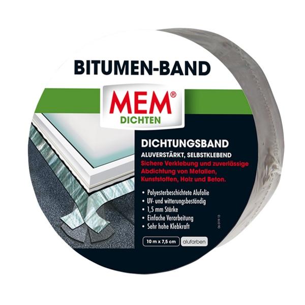 MEM Bitumen-Band - alu - 7,5 cm x 10 m