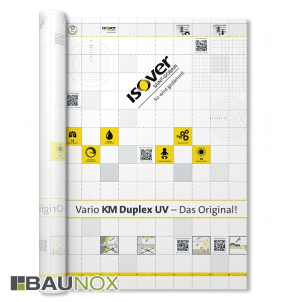 Isover Vario KM Duplex UV - Dampfbremsfolie mit Vlieskaschierung für optimalen Feuchteschutz