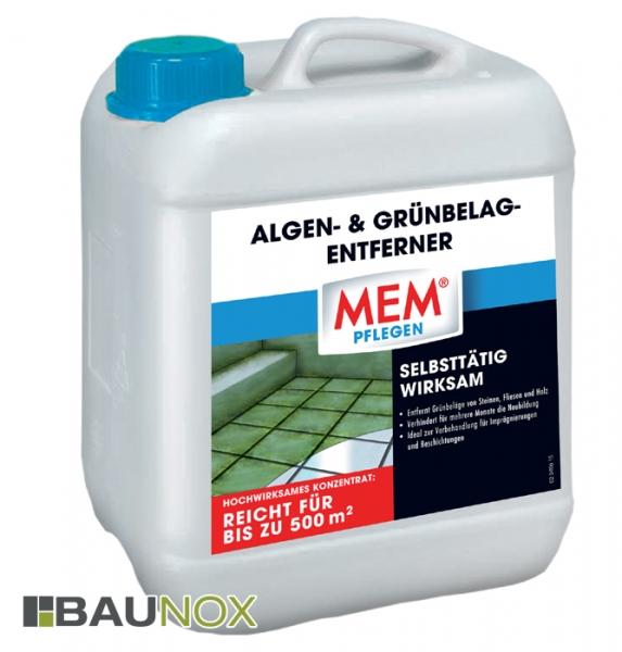 MEM ALGEN- UND GRÜNBELAG-ENTFERNER - Der selbsttätig wirksame Schutz gegen Algen & Grünbelag im Kanister