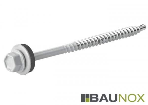 Trapezblechschrauben 4,8 x 80 mm - RAL9002