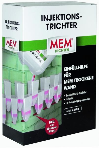 MEM Injektionstrichter ist die Einfüllhilfe für MEM Trockene Wand