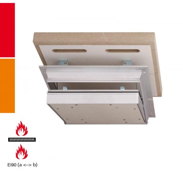 Alumatic F/EI90 40/43 mm Revisionsklappe für Montage in selbstständige Brandschutzunterdecken