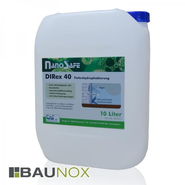EAG NanoSafe® DIRex 40 - Tiefenhydrophobierung für Beton