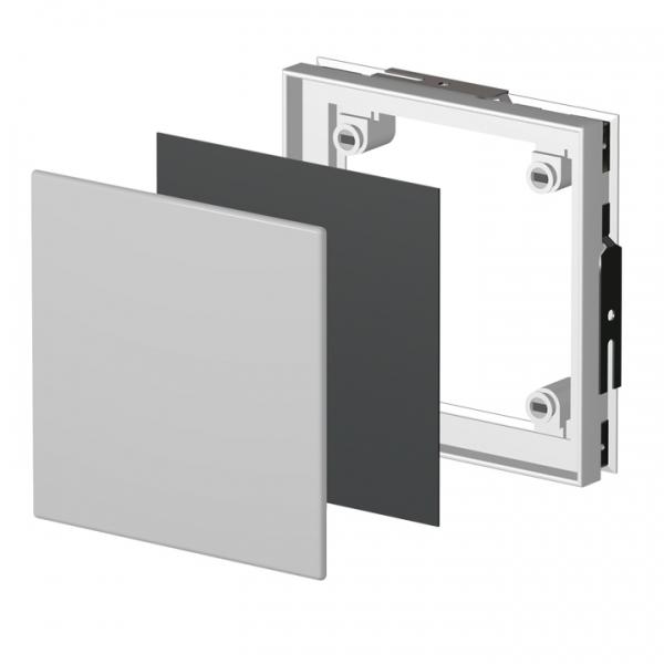Kunststoff - Fliesenrahmen mit Magneten - für Leitungen und Rohre in gefliesten Wänden