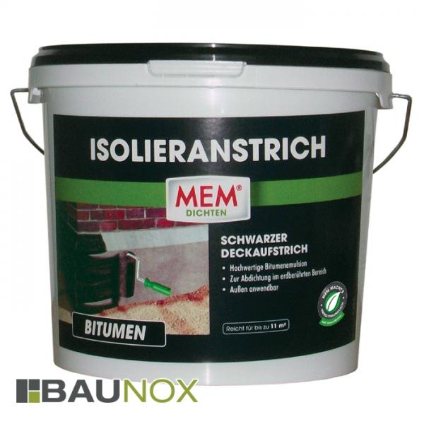 MEM ISOLIERANSTRICH - schwarzer Deckaufstrich gegen Bodenfeuchtigkeit - 5 Liter