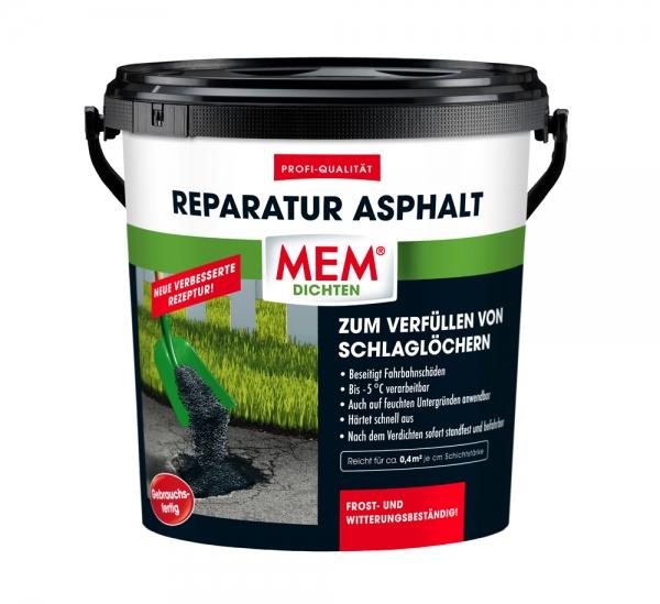 MEM REPARATUR ASPHALT das gebrauchsfertige Asphaltgemisch zum Verfüllen von Schlaglöchern