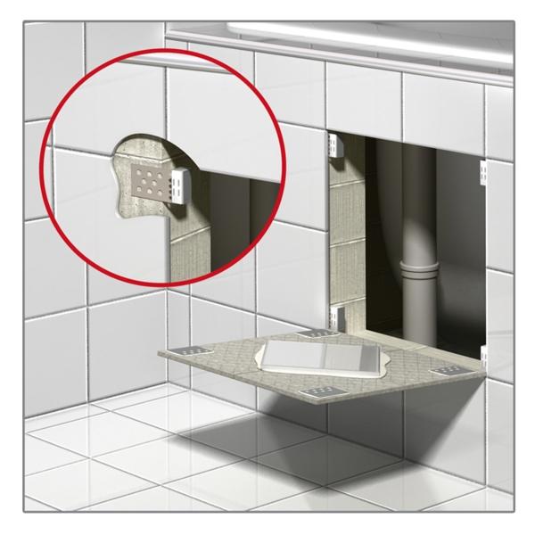 Fliesenmagnete -  zur Errichtung von Kontrollöffnungen (Wartungsöffnungen) an Duschen und Badewannen