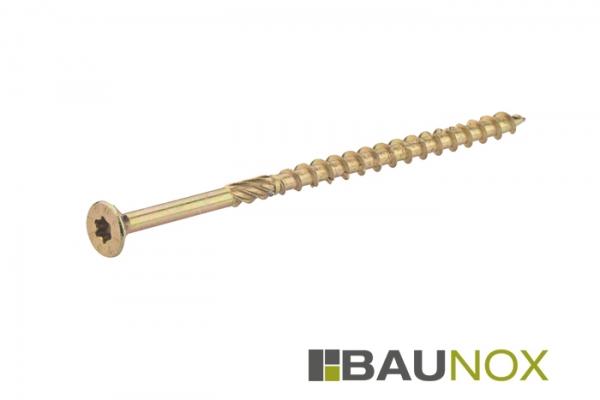 Holzbauschrauben / Spanplattenschrauben gelb verzinkt in verschiedenen Größen auf Baunox.de