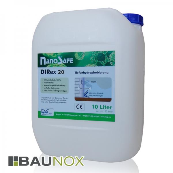 EAG NanoSafe® DIRex 20 - Tiefenhydrophobierung für Beton