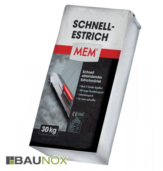 MEM SCHNELL-ESTRICH 30kg - Schnell abbindendender Estrichmörtel