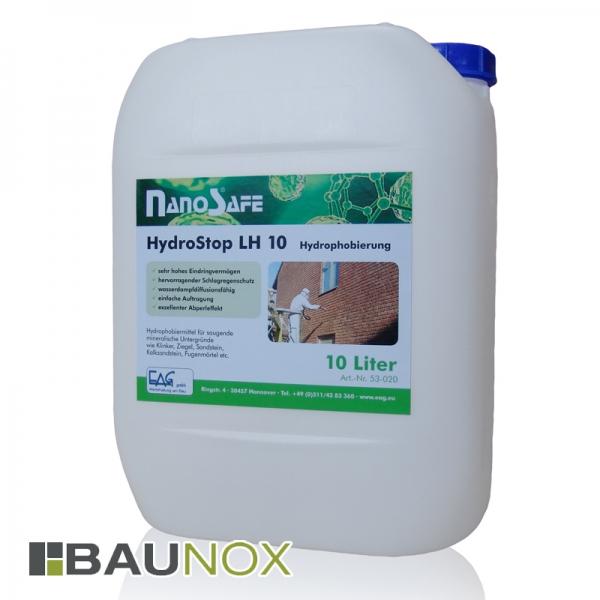 EAG NanoSafe® HydroStop LH 10 - Hydrophobierung für Stein und Beton