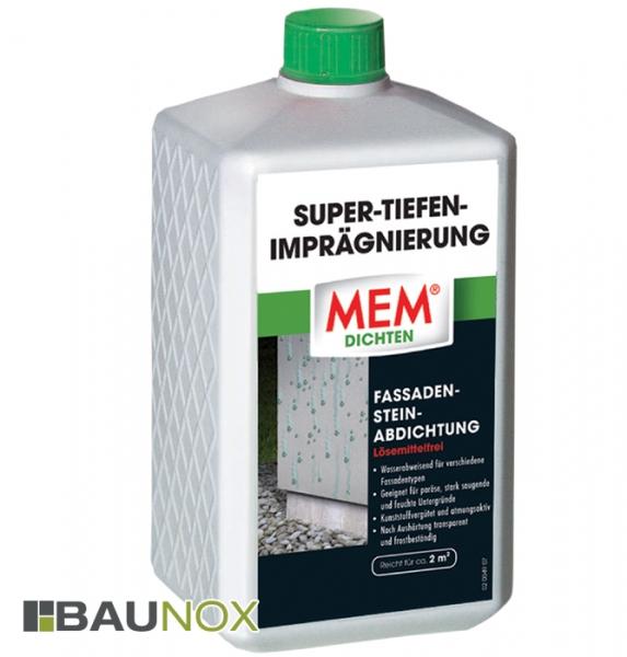 MEM SUPER-TIEFENIMPRÄGNIERUNG die lösemittelfreie Fassaden-Stein-Abdichtung - 1 Liter