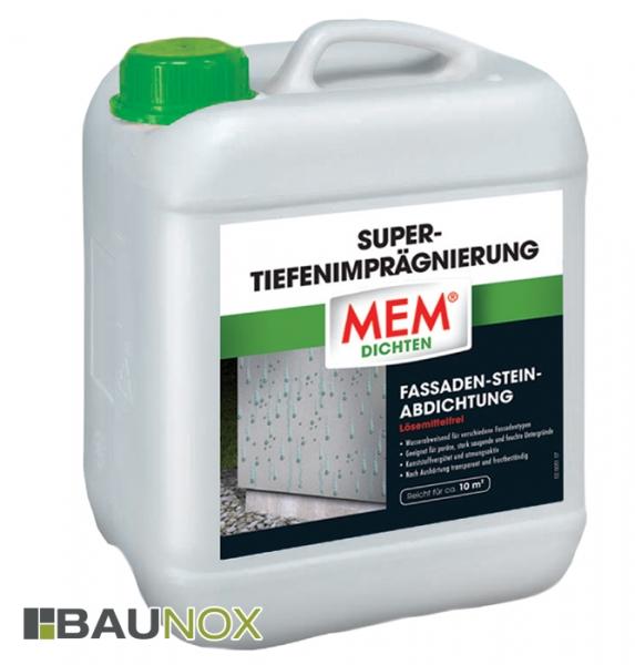 MEM SUPER-TIEFENIMPRÄGNIERUNG die lösemittelfreie Fassaden-Stein-Abdichtung - 5 Liter