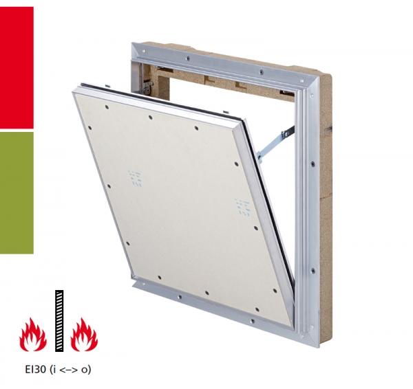 AluProtect® EI/I30 Revisionsklappe für Montage in Schachtwandsysteme / Installationsschachtwände