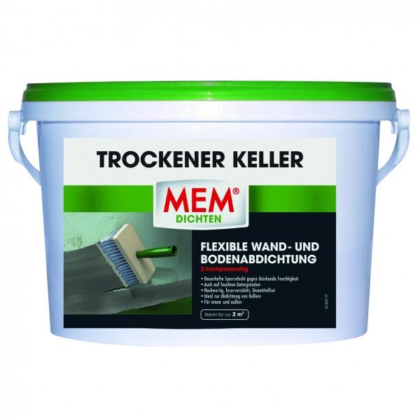 MEM TROCKENER KELLER ist ideal für die flexible Wand- und Bodenabdichtung