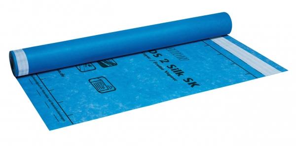 Knauf Insulation LDS 2 Silk SK - Dampfbremsbahn mit integrierten Selbstklebestreifen