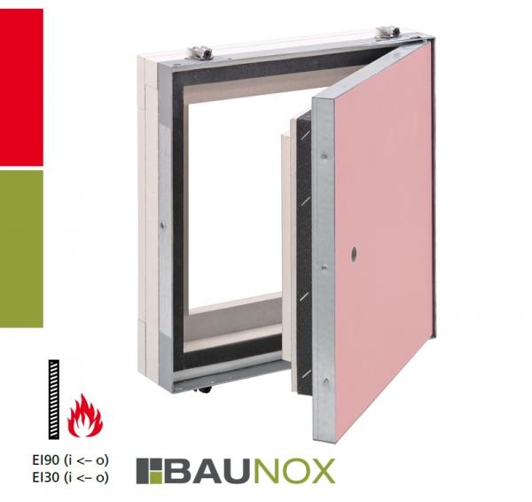 AluSpeed® Safe EI/I30 oder EI/I90 Revisionstür für Montage in Schachtwandsysteme, Installationsschachtwände, Vorsatzschalen oder Massivwände
