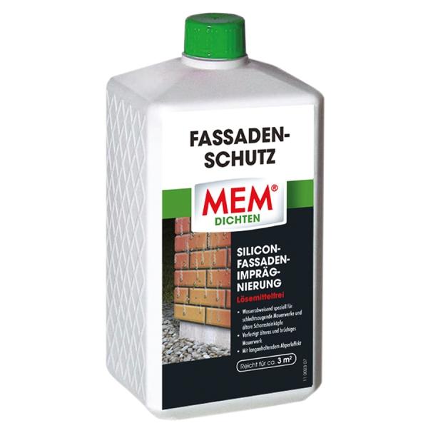 MEM FASSADEN-SCHUTZ ist die wasserabweisende Fassadenimprägnierung für schlechtsaugende Mauerwerke