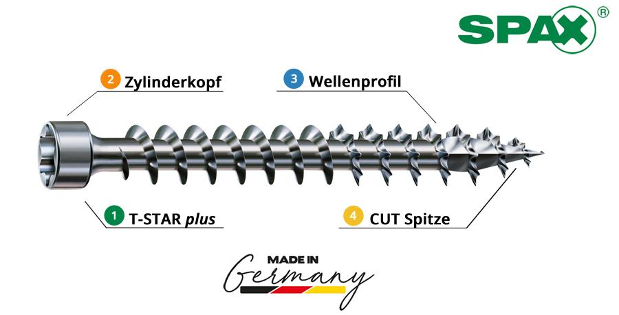 Spax_Zylinderkopfschrauben_inforce_Vollgewinde_Holzschrauben_T_Star_plus_Onlineshop_Baunox_Eigenschaften