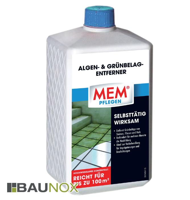 mem algen und gr nbelag entferner ad mit gr nbel gen auf steinen fliesen und holz baunox. Black Bedroom Furniture Sets. Home Design Ideas