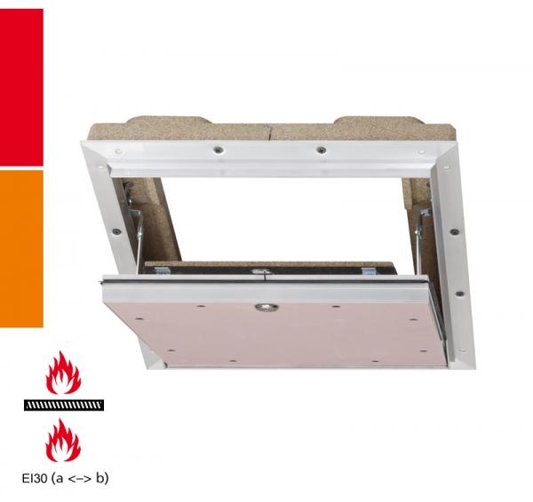 AluProtect® Safe F/EI30 Revisionsklappe für Montage in selbstständige Brandschutzunterdecken