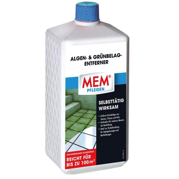 MEM ALGEN- UND GRÜNBELAG-ENTFERNER - Der selbsttätig wirksame Schutz gegen Algen & Grünbelag