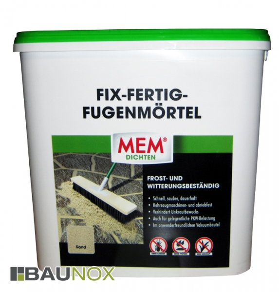 MEM FIX-FERTIG-FUGENMÖRTEL im 12,5 kg Gebinde der Farbe SAND