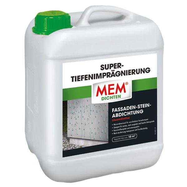 MEM SUPER-TIEFENIMPRÄGNIERUNG die lösemittelfreie Fassaden-Stein-Abdichtung - 10 Liter