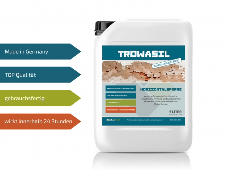 Baunox TROWASIL - Horizontalsperre - 5 Liter