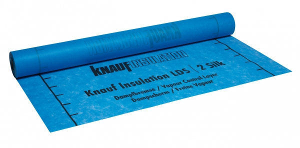 Knauf Insulation LDS 2 Silk Dampfbremsbahn für Neu- und Altbau