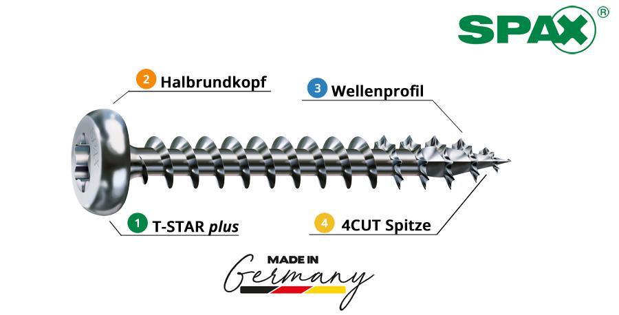 Spax_Universalschrauben_Holzschrauben_Halbrundkopf_Metallbeschlaege_WIROX_kaufen_Baunox_Onlineshop_Eig