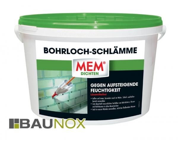 MEM Bohrlochschlämme gegen aufsteigende Feuchtigkeit im Wohn- Schlaf- und Kellerbereich