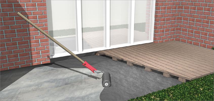 balkon und terrassenabdichtung sperr schicht dicht schicht baumarkt online shop. Black Bedroom Furniture Sets. Home Design Ideas