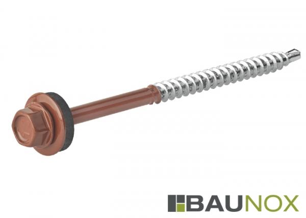 Trapezblechschrauben 4,8 x 80 mm - RAL8004
