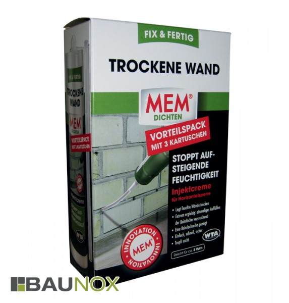 mem trockene wand fix fertig set 3 x 290 ml trockene. Black Bedroom Furniture Sets. Home Design Ideas