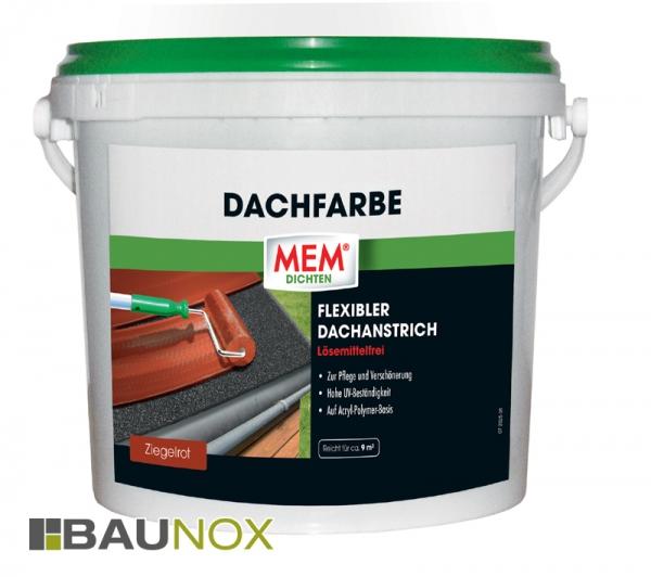 MEM Dachfarbe ist der lösemittelfreie und flexible Dachanstrich in 3 verschiedenen Farben